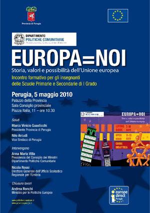 Europa = Noi, locandina Perugia