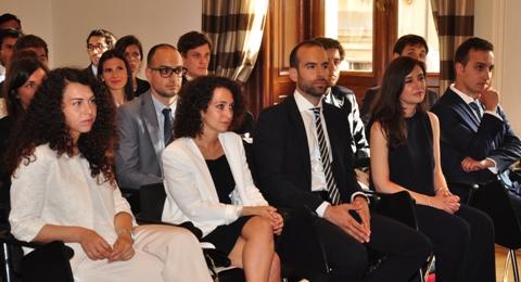 Premiazione studenti del Collegio d'Europa