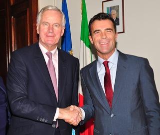 Michael Barnier e Sandro Gozi