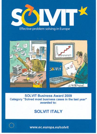 SOLVIT Business Award 2009