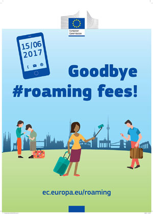 "Poster ""Goodbye #roaming fees!"""